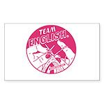 Team English Rectangle Sticker