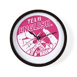 Team English Wall Clock