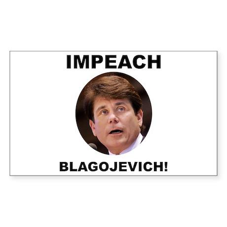 Impeach Blagojevich Rectangle Sticker