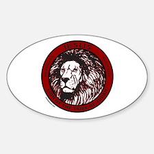 LION, TRIBE OF JUDAH Sticker (Oval)