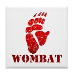 Red Wombat Footprint Tile Coaster
