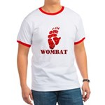Red Wombat Footprint Ringer T