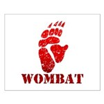 Red Wombat Footprint Small Poster