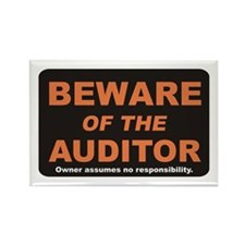 Beware / Auditor Rectangle Magnet