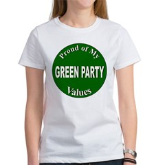 Proud Green Party Values (Front) Women's T-Shirt