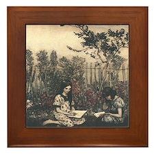 Arthur Rackham's Marjorie and Margaret Framed Tile