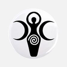 """Goddess Crescent Moons 3.5"""" Button"""