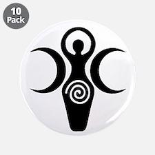"""Goddess Crescent Moons 3.5"""" Button (10 pack)"""