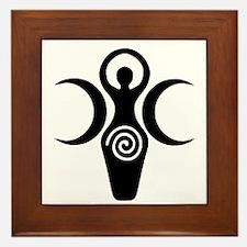 Goddess Crescent Moons Framed Tile