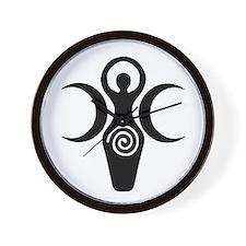 Goddess Crescent Moons Wall Clock