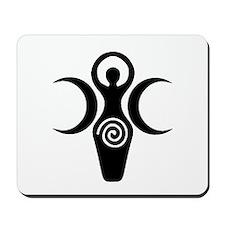 Goddess Crescent Moons Mousepad