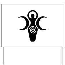 Goddess Crescent Moons Yard Sign