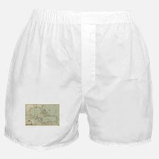 Vintage Map of The Caribbean (1774) Boxer Shorts