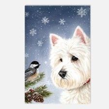 WESTIE WINTER WONDERS Postcards (Package of 8)