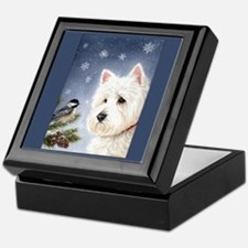 WESTIE WINTER WONDERS Keepsake Box
