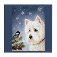 WESTIE WINTER WONDERS Tile Coaster