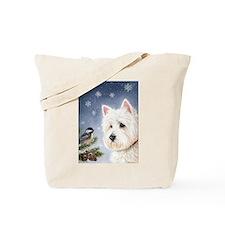 WESTIE WINTER WONDERS Tote Bag