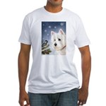 WESTIE WINTER WONDERS Fitted T-Shirt