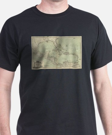 Vintage Map of The Caribbean (1774) T-Shirt