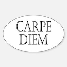 Carpe Diem Oval Decal