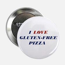 """I Love Gluten-Free Pizza 2.25"""" Button"""