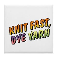 Knit Fast, Dye Yarn Tile Coaster