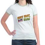 Knit Fast, Dye Yarn Jr. Ringer T-Shirt