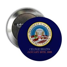 "Obama Presidential Seal 2.25"" Button"