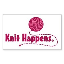 Knit Happens Rectangle Bumper Stickers
