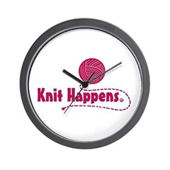 Knit Happens Wall Clock