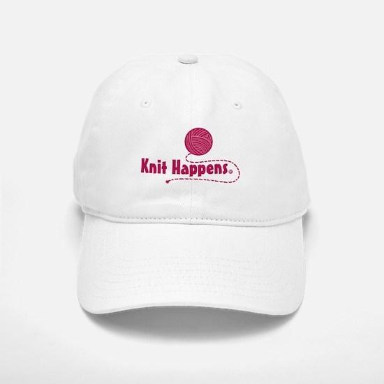 Knit Happens Baseball Baseball Cap