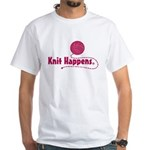 Knit Happens White T-Shirt