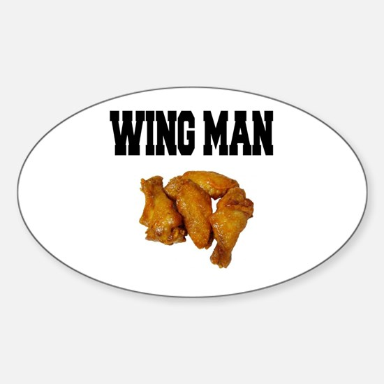 Wing Man Oval Decal