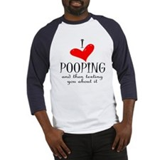 Love of Pooping Funny Gift Baseball Jersey