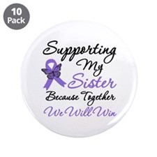 """Hodgkin's Support Sister 3.5"""" Button (10 pack)"""