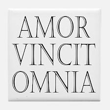 Amor vincit omnia Tile Coaster
