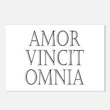 Amor vincit omnia Postcards (Package of 8)