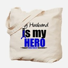 Colon Cancer Hero Tote Bag