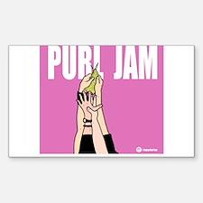 Purl Jam Rectangle Decal