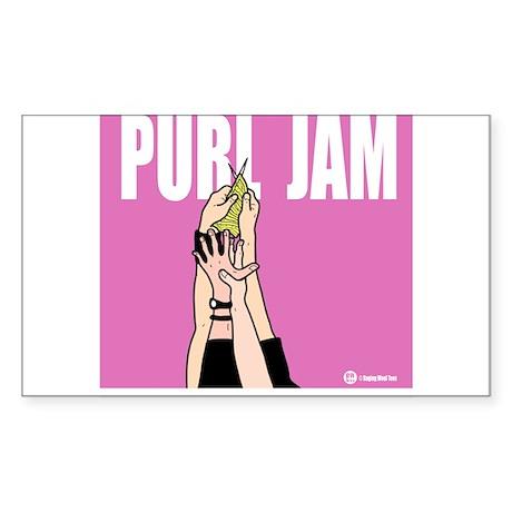 Purl Jam Rectangle Sticker