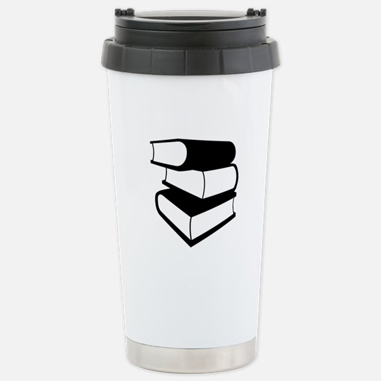 Stack Of Black Books Stainless Steel Travel Mug