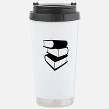Stack Of Black Books Travel Mug