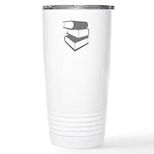 Stack Of Gray Books Travel Coffee Mug