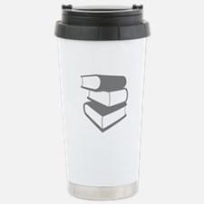 Stack Of Gray Books Travel Mug