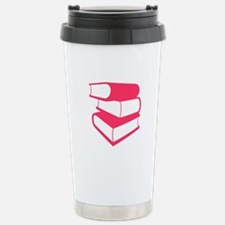 Stack Of Pink Books Travel Mug