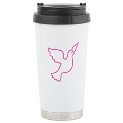 Pink Peace Dove Stainless Steel Travel Mug