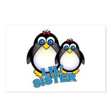Lil' Sister Penguins Postcards (Package of 8)