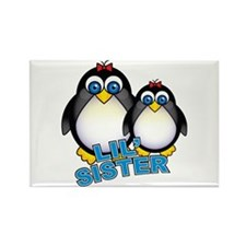 Lil' Sister Penguins Rectangle Magnet
