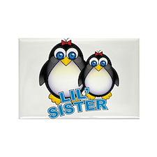 Lil' Sister Penguins Rectangle Magnet (100 pack)