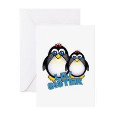 Lil' Sister Penguins Greeting Card